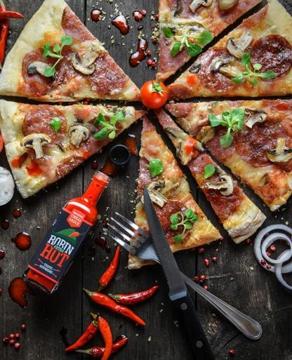 Scharfe Sauce für Pizza Robin Hot