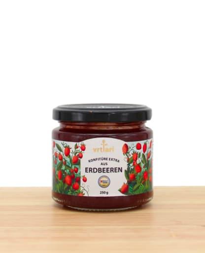 Leckere Extra Konfitüre Erdbeeren Sodeli.ch