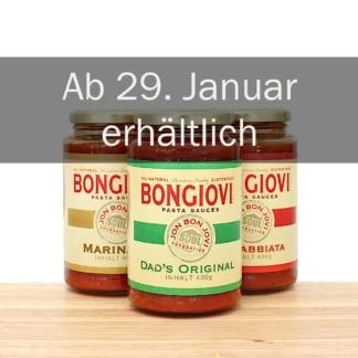Bongiovi Pastasauce Trio Origina, Arrabiata und Marinara